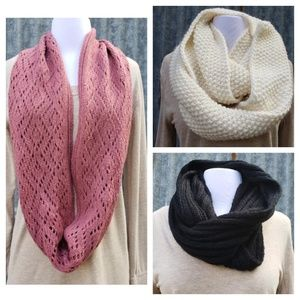 Accessories - LOT OF 3 INFINITY SCARVES FOR WINTER